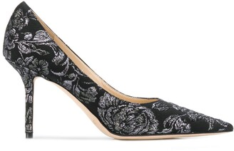 Jimmy Choo floral embroidery Love 85mm pumps