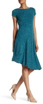 Ellen Tracy Asymmetrical Heathered Knit Dress