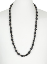 Topman Haematite Skull Rope Necklace