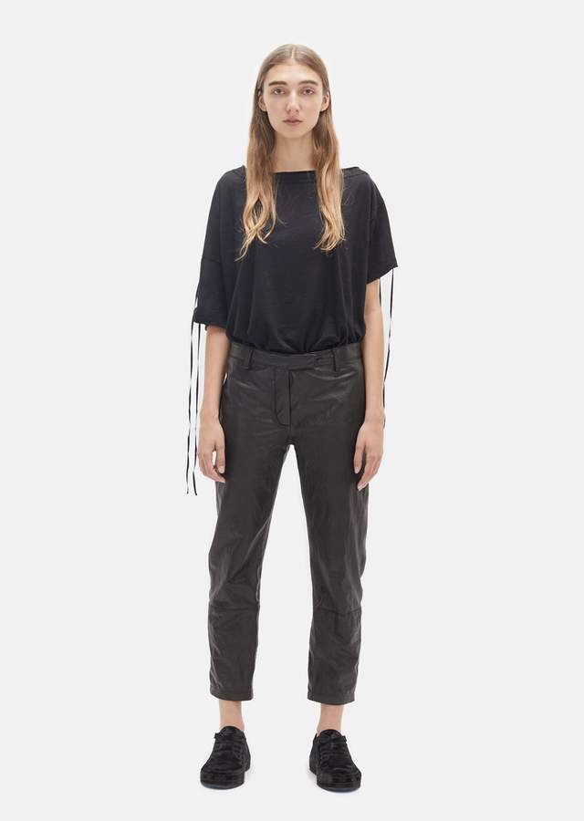 Ann Demeulemeester Harmon Leather Pants Black