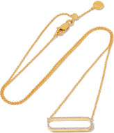 Monica Vinader Diva gold-plated diamond necklace