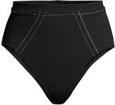 SUBOO Kaia Paneled High-Waist Bikini Bottoms
