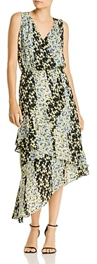 Parker Pippin Color-Blocked Floral Dress