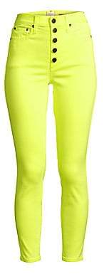 Alice + Olivia Jeans Jeans Women's Good High-Rise Neon Button Fly Skinny Ankle Jeans