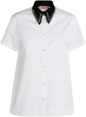 No.21 N21 Embellished-Collar Shirt