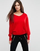 Asos Sweater with V Neck in Swing Shape