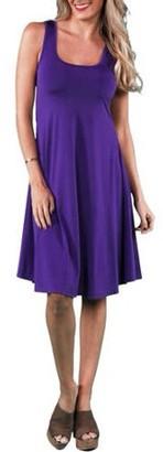 24/7 Comfort Apparel Women's Sleeveless Tank Knee-Length Dress