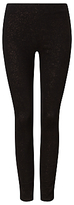 Phase Eight Amina Sparkle Jeggings, Black/Bronze