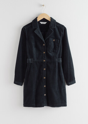 And other stories Corduroy Utility Mini Dress