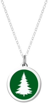 Auburn Jewelry Pine Tree Necklace in Sterling Silver