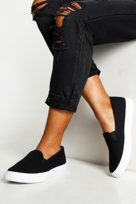 boohoo Canvas Contrast Sole Skaters