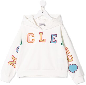 Moncler Enfant Embroidered Logo Patch Hoodie
