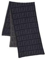 Fendi Logo Knit Wool Scarf