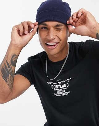New Look Portland oversized t-shirt in black