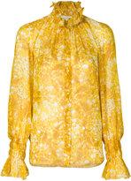 Sonia Rykiel flora print frilled blouse - women - Silk - 38