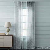 Martha Stewart Marthawindow Peeking Vine Grommet Curtain Panel - Sheer Gray Drizzle - 50 X 95