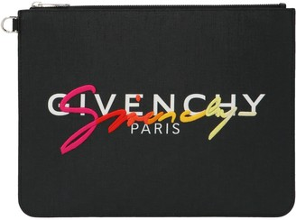 Givenchy Logo Signature Clutch Bag