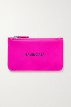 Balenciaga Cash Neon Printed Textured-leather Wallet - Pink