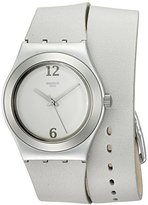 Swatch Women's YLS1033 Irony Analog Display Swiss Quartz Grey Watch