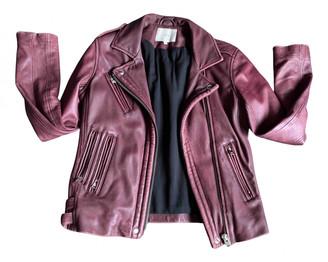 IRO Fall Winter 2019 Burgundy Leather Leather jackets