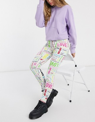 Love Moschino allover multi logo joggers