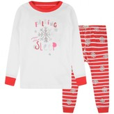 Girls Candy Cane Applique Pyjamas