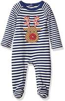 Mud Pie Baby Boys' Footed One Piece Striped Sleeper