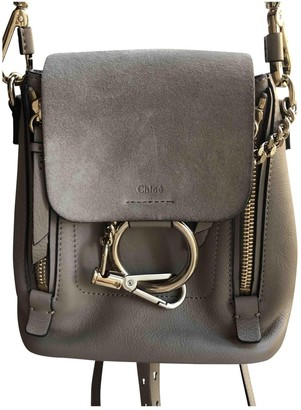 Chloé Faye Grey Suede Backpacks