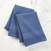 Crate & Barrel Waffle-Terry Indigo Dish Towels, Set of 2