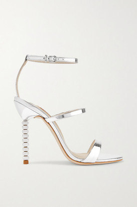 Sophia Webster Rosalind Crystal-embellished Metallic Leather Sandals - Silver