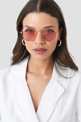 NA-KD Round Metal Frame Sunglasses Gold