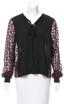 Marc Jacobs Embroidered Floral Top