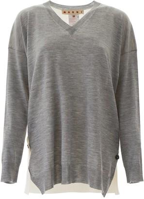 Marni V-Neck Knitted Pullover