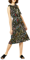 Warehouse Wild Garden Tie Shoulder Dress, Multi