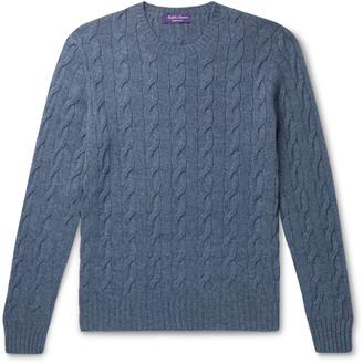 Ralph Lauren Purple Label Slim-Fit Cable-Knit Cashmere Sweater