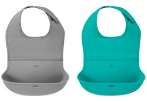 OXO 2-Pack Roll Up Bib in Grey/Teal