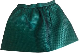 Les Prairies de Paris Green Cotton Skirt for Women