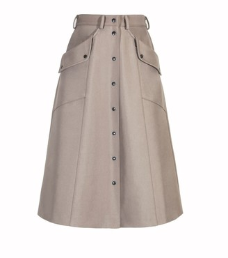 BEIGE Diana Arno Beate A-Line Skirt In Cool