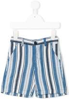 Il Gufo striped denim shorts