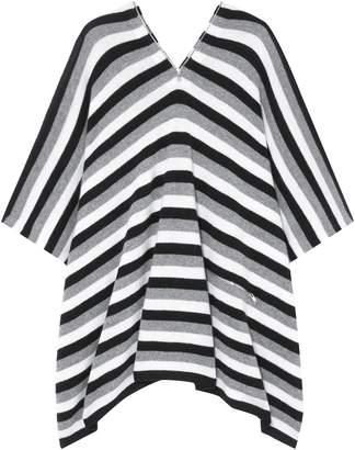 Sonia Rykiel Zip-detailed Striped Cashmere Poncho