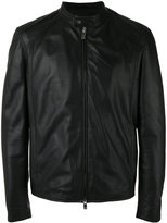Drome zip up jacket - men - Leather/Acetate/Viscose - M