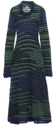 M Missoni Crochet-knit Mohair-blend Turtleneck Midi Dress