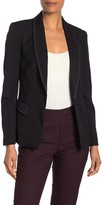 T Tahari Stitch Detail Open Blazer