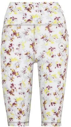 adidas by Stella McCartney TruePurpose floral biker shorts