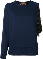 No.21 fringe-trimmed sweatshirt - women - Cotton/Viscose/Polyester - 42