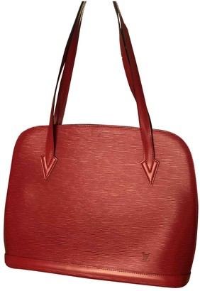 Louis Vuitton Lussac Red Leather Handbags