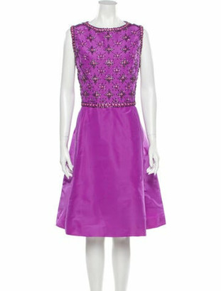 Oscar de la Renta 2014 Knee-Length Dress Purple
