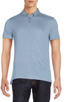 John Varvatos Heathered Knit Polo Shirt