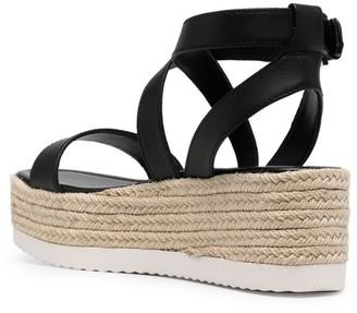MICHAEL Michael Kors Lowry platform wedge espadrille sandals