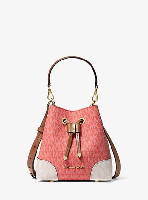 Michael Kors Mercer Gallery Extra-Small Color-Block Logo Crossbody Bag